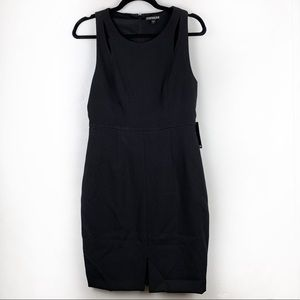EXPRESS Solid Black Sleeveless Sheath Dress Zipper
